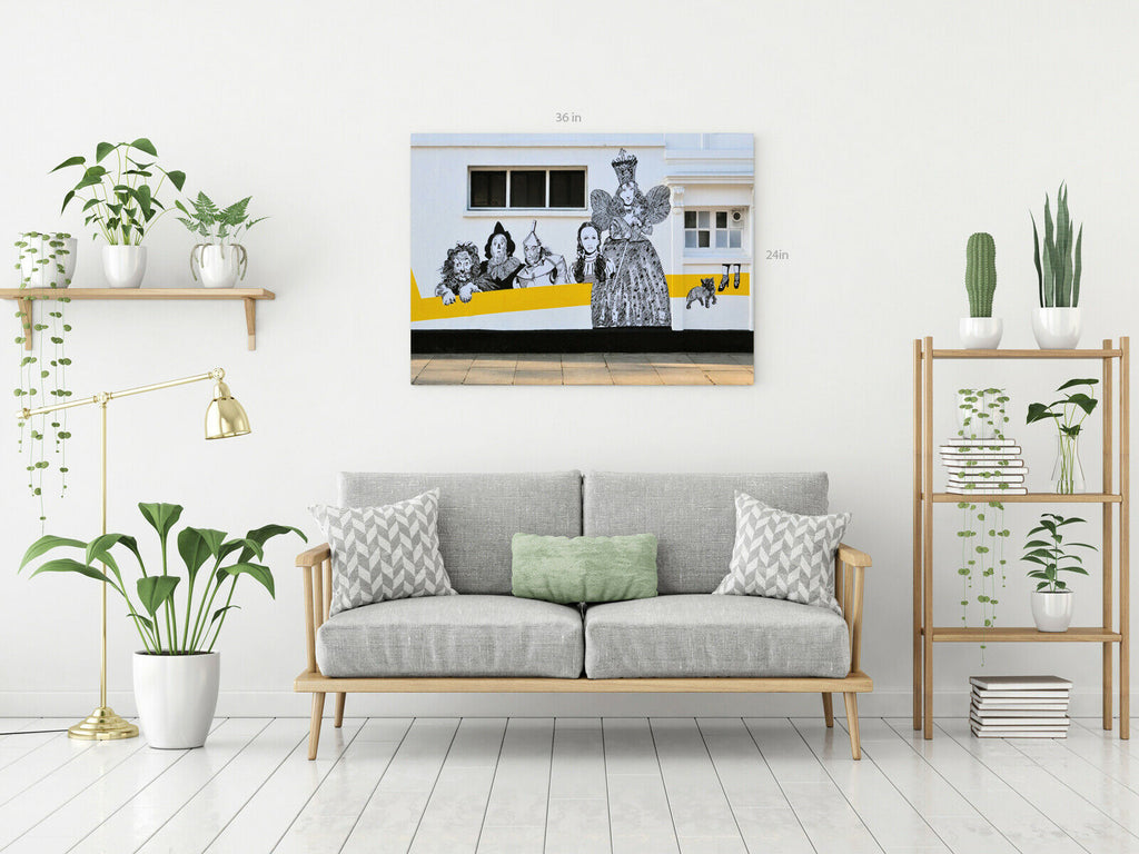 Wizard Of Oz Street Art  Canvas Wall Art Picture Print