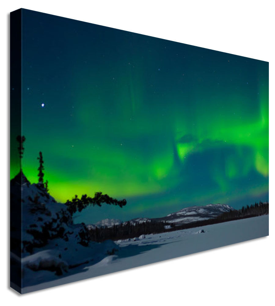 Wall Art Large Northern Lights Canvas Wall Art Picture Print