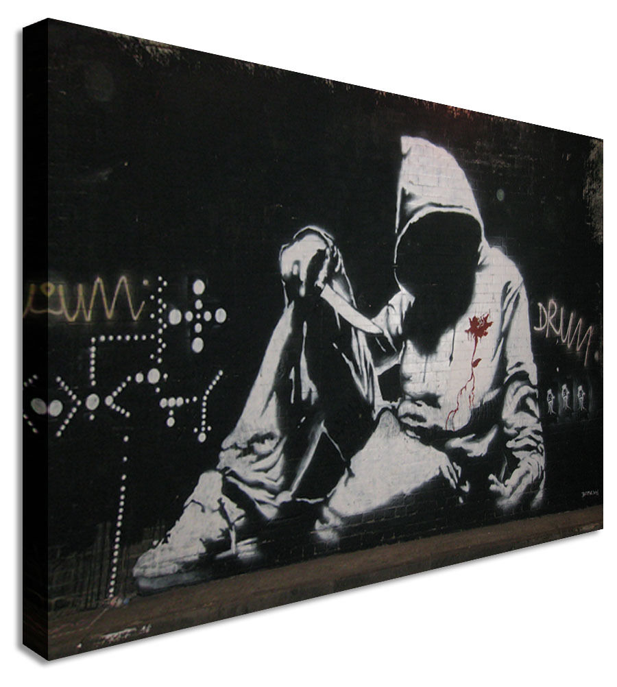 Fallen Angel Gangster - Banksy  Canvas Wall Art Picture Print