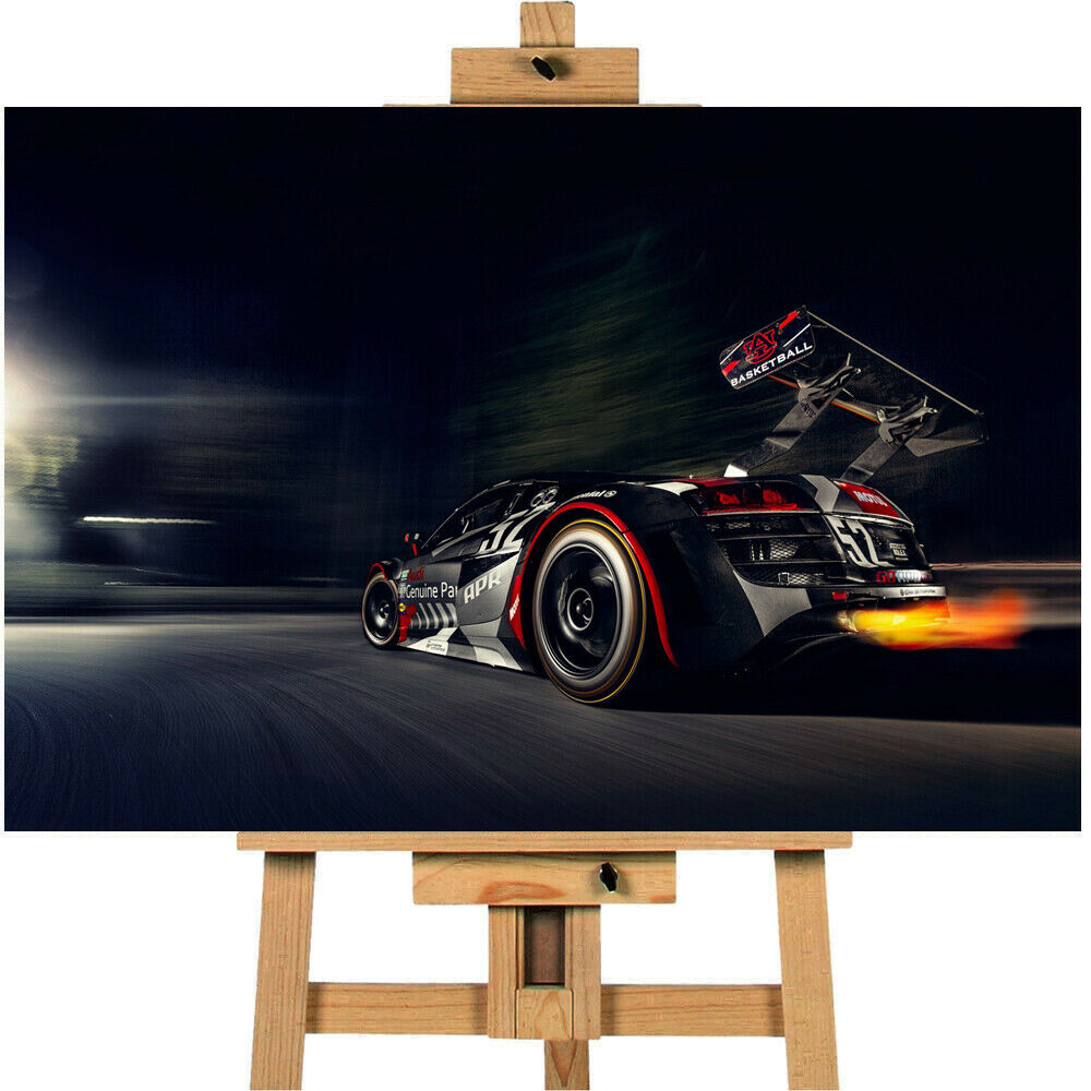 Audi R8 Race Car Canvas Print Wall Art