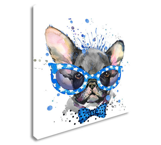 French Bulldog Cute illustration Canvas Wall Art Picture Print