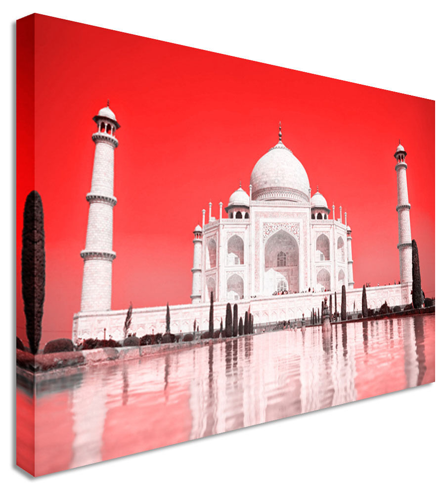 Abstract Taj Mahal Sky Indian Canvas Wall Art Picture Print