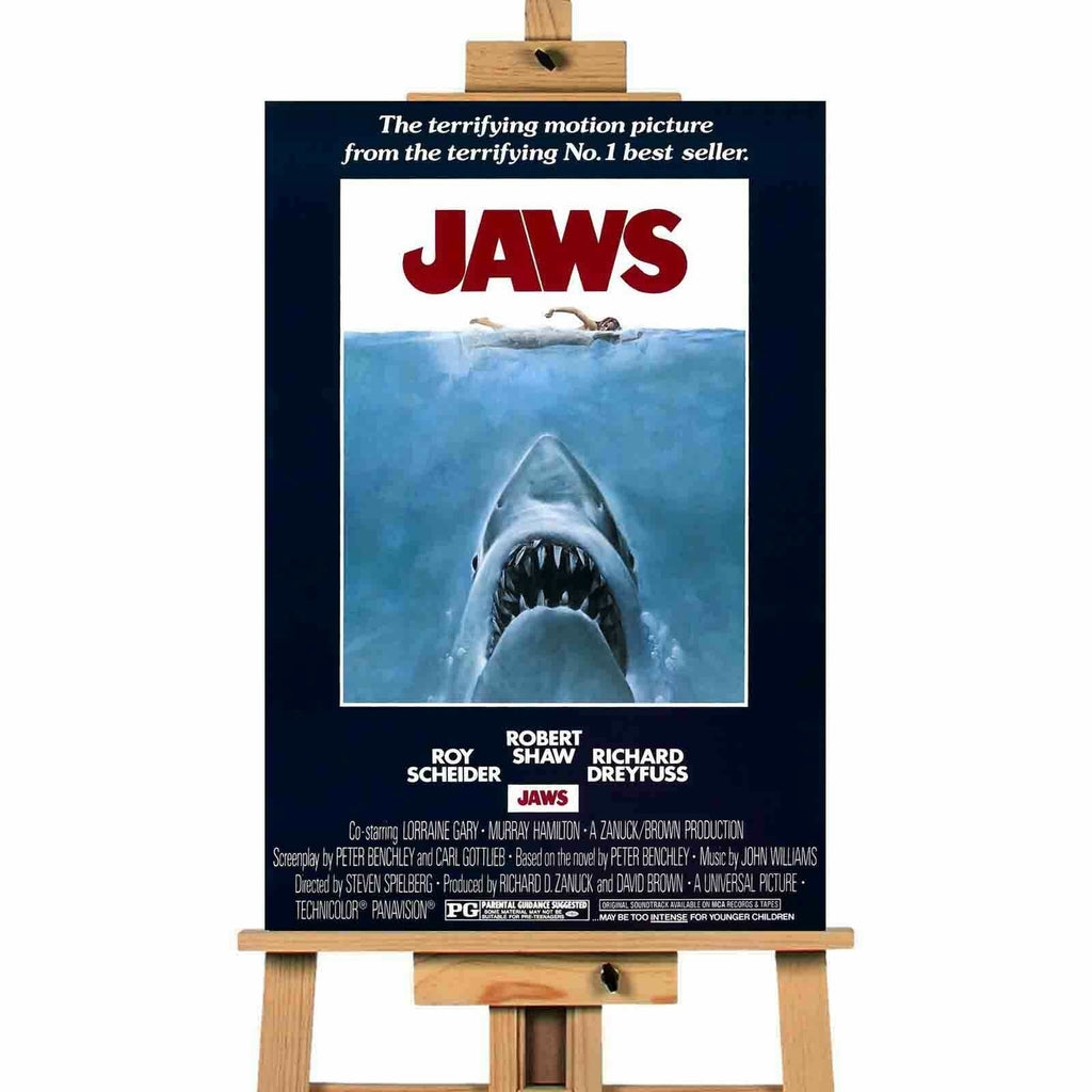 Jaws Movie   Movie Poster Canvas Print Wall Art