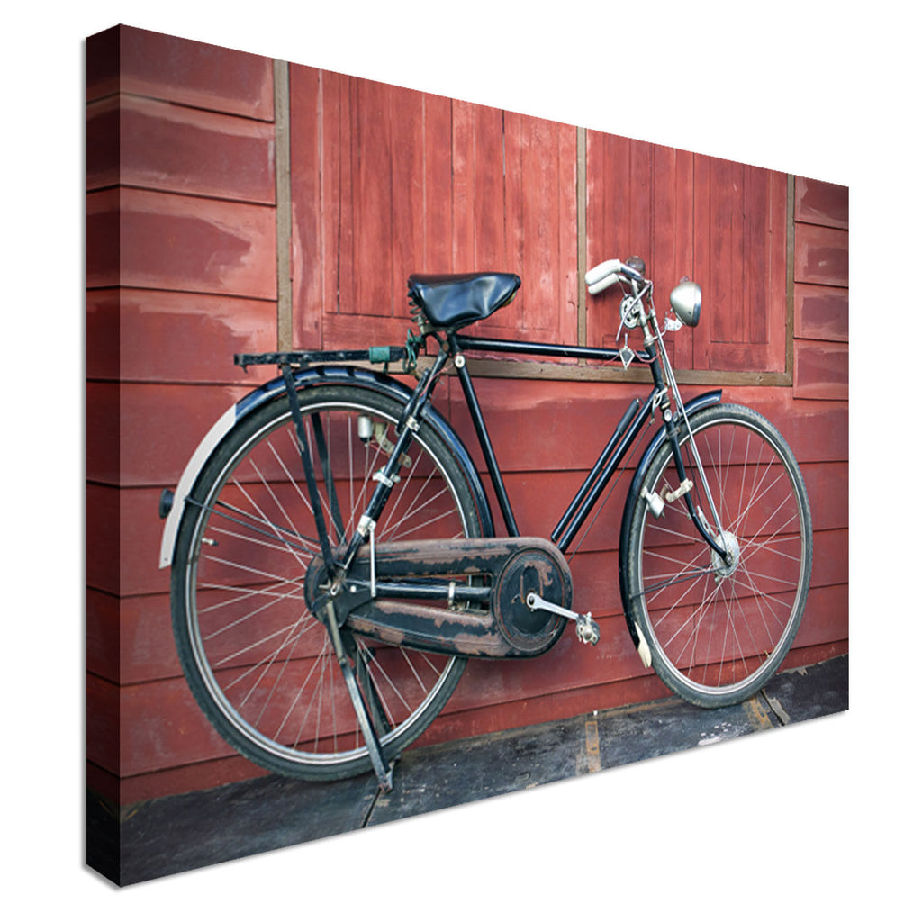Vintage Bicycle Canvas Wall Art Picture Print