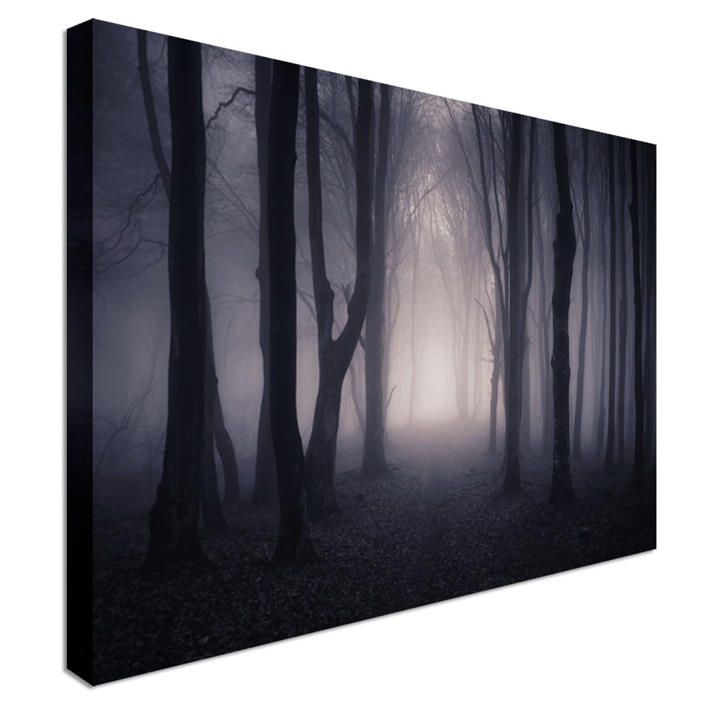 Spooky Witch Forest Canvas Canvas Wall Art Picture Print