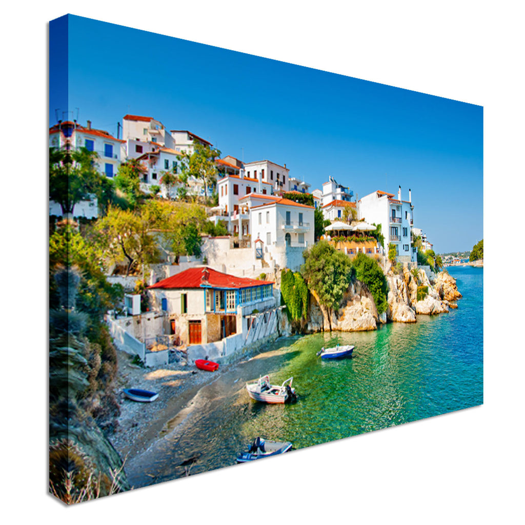 Skiathos in Greece Canvas Wall Art Picture Print