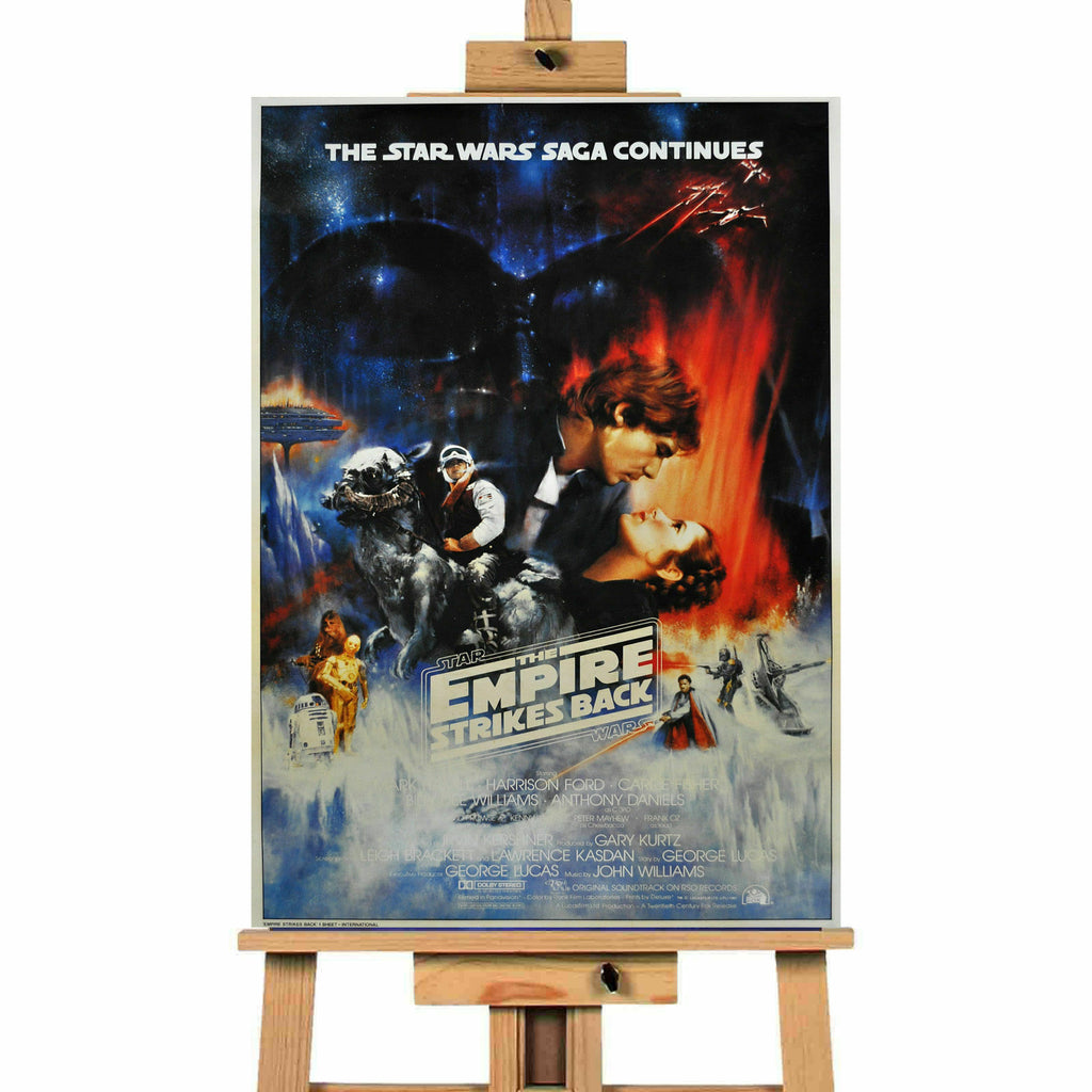 Star Was Empire Strikes Back  Movie  Canvas Print Wall Art Poster