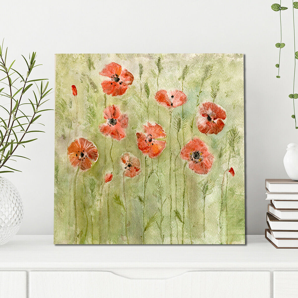 poppy field Canvas Wall Art Picture Print