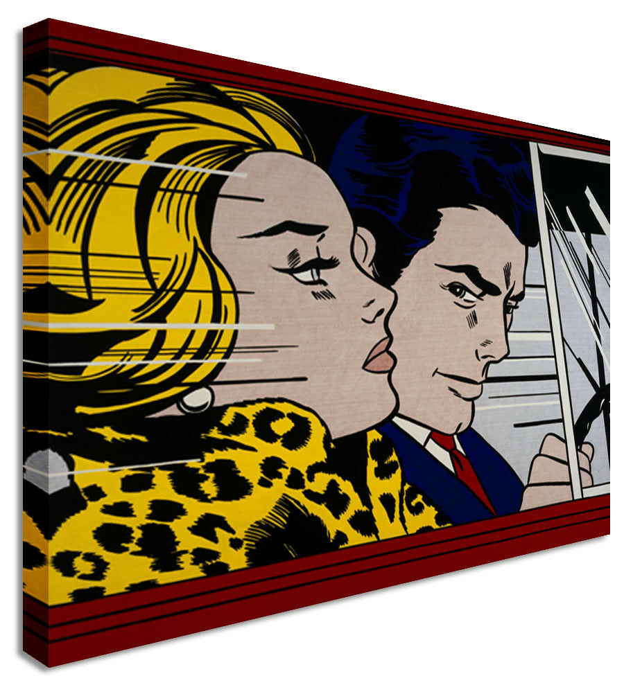 Roy Lichtenstein Drive  Canvas Wall Art Picture Print