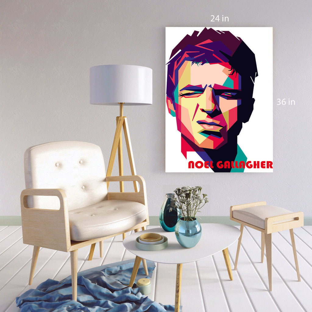 Noel Gallagher Abstract Painting  Canvas Wall Art Picture Print