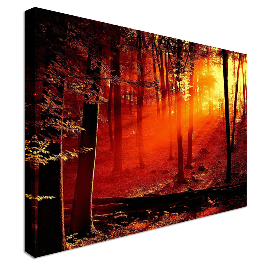 landscape art woodland Canvas Wall Art Picture Print