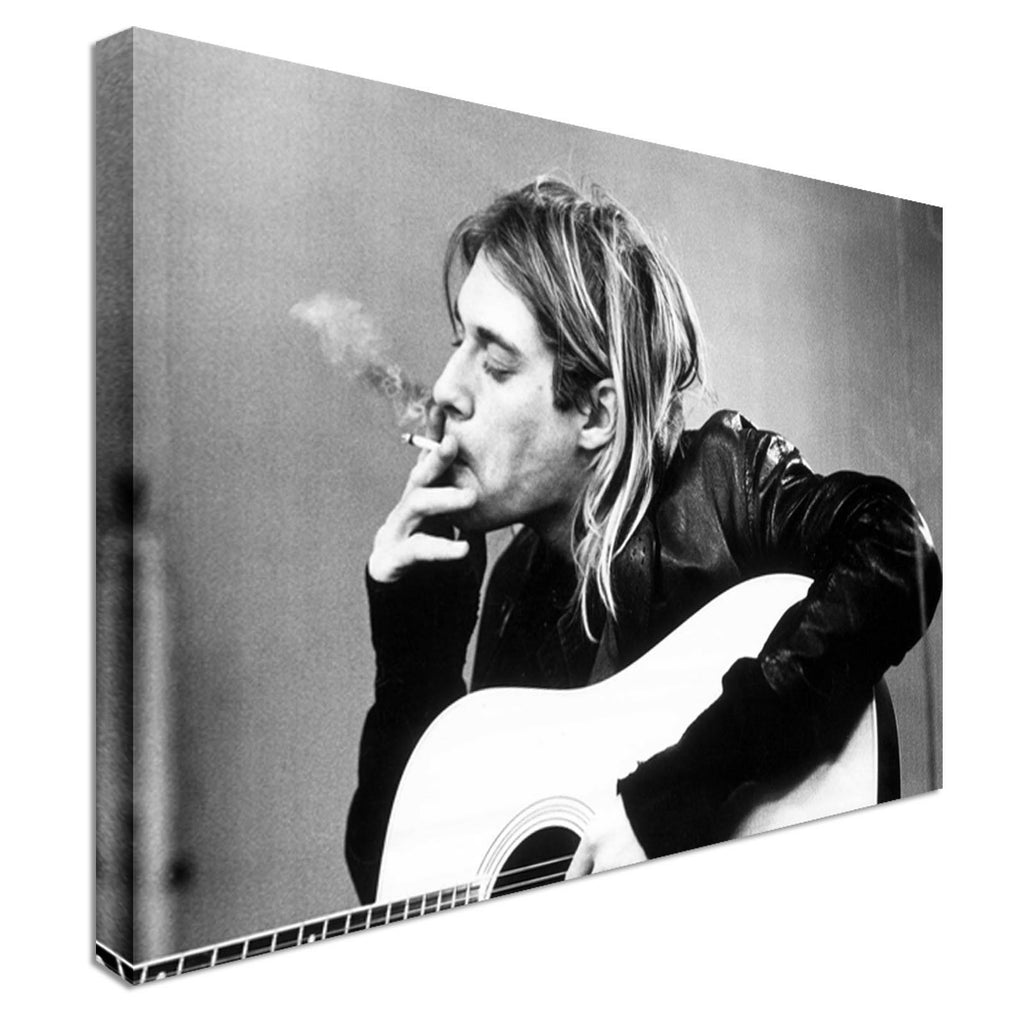 Nirvana Cobain singer music pop  Canvas Wall Art Picture Print