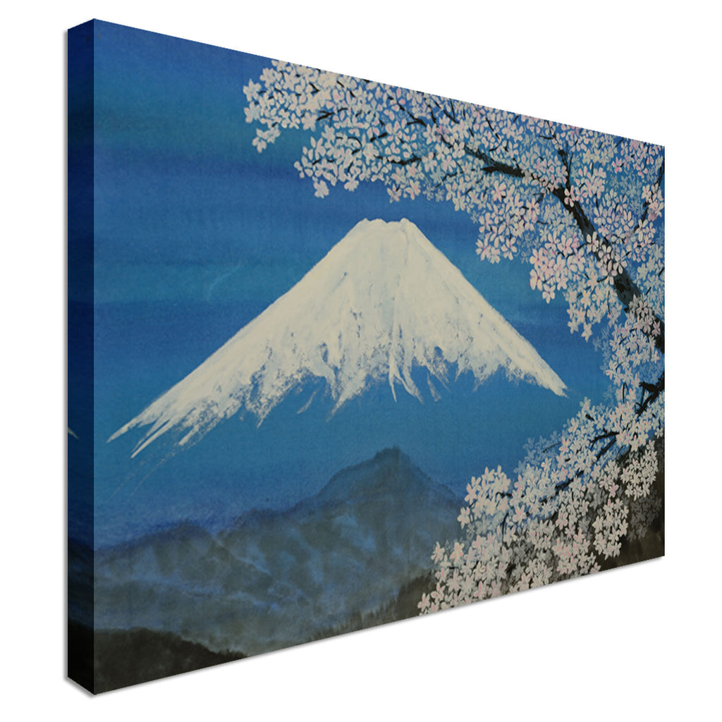 Japanese Painting Blossom Mountain Canvas Wall Art Picture Print