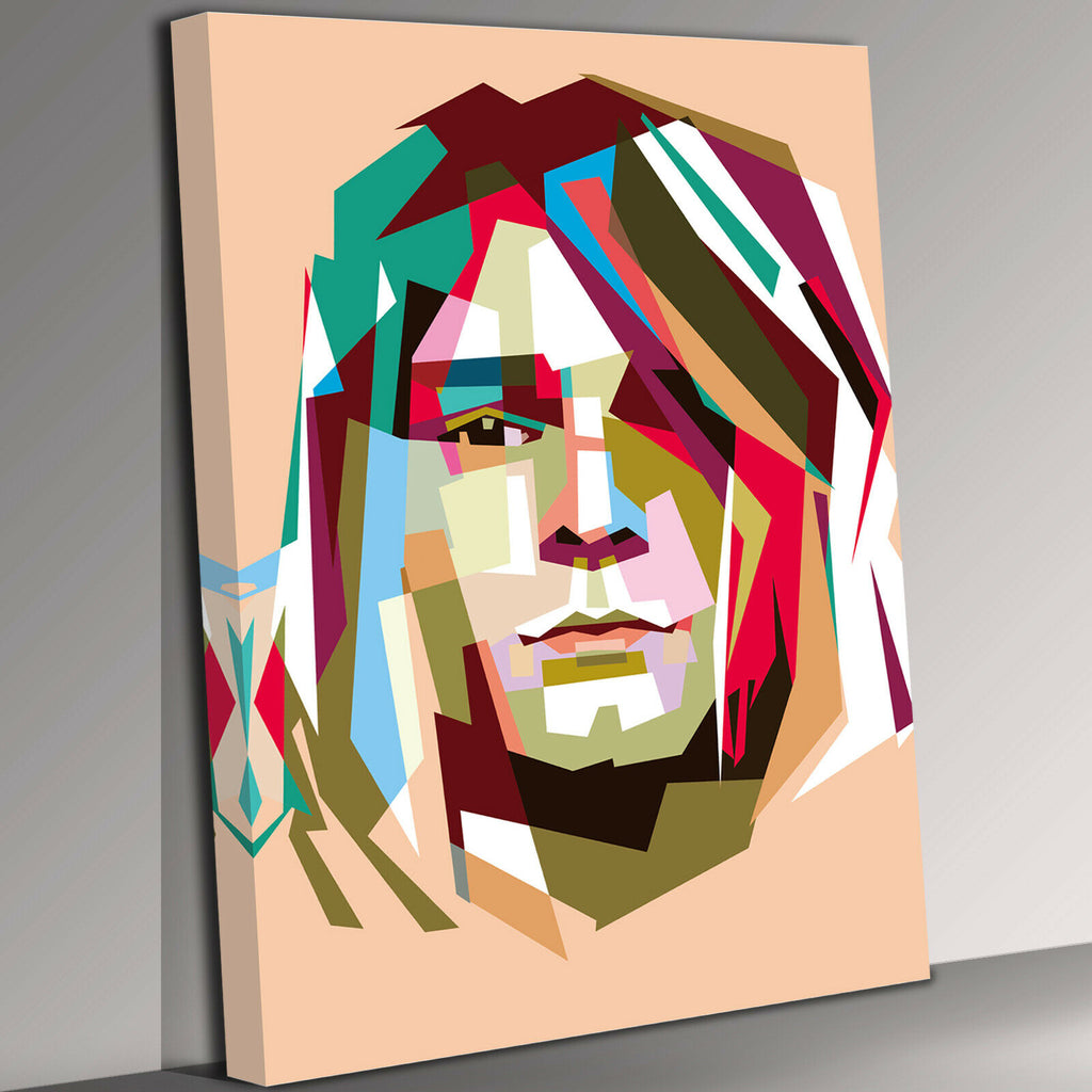 Kurt Cobain Painting Abstract Canvas Wall Art Picture Print