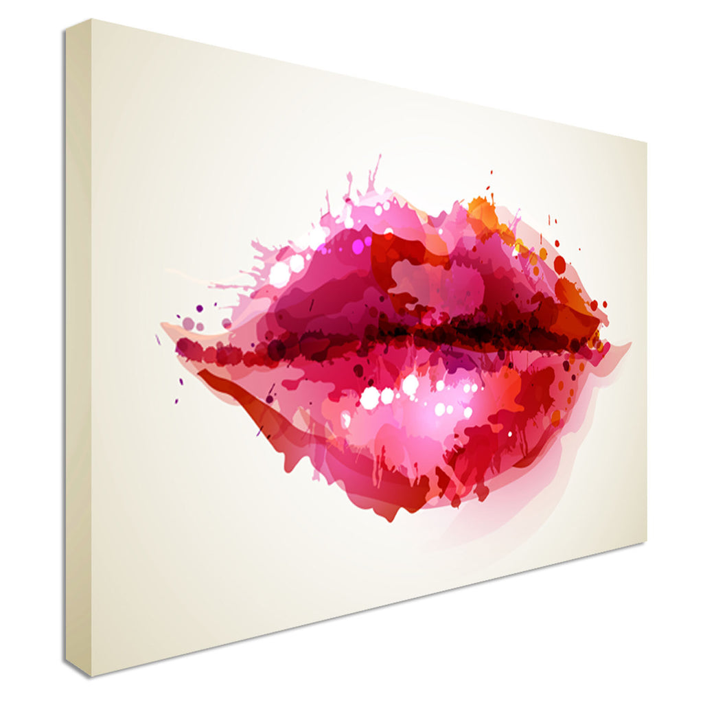 Beautiful Female lips abstract Canvas Wall Art Picture Print