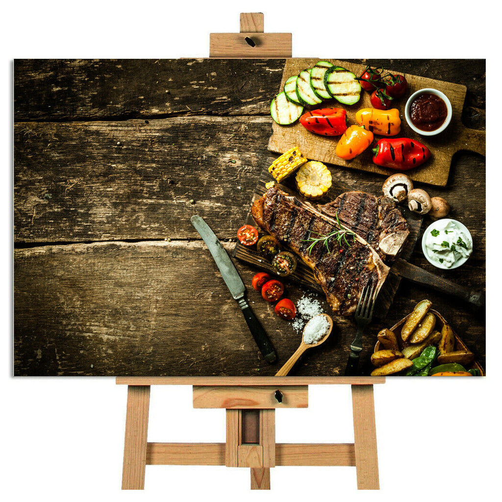 Rustic Roast Vegetable Kitchen Canvas Picture Wall Art Print