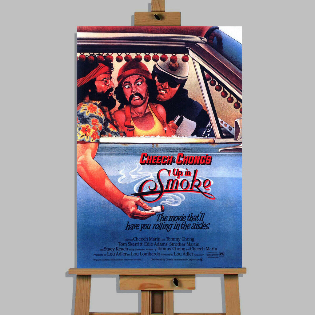 Cheech and Chong Up In Smoke  Movie Canvas Wall Art Picture Print