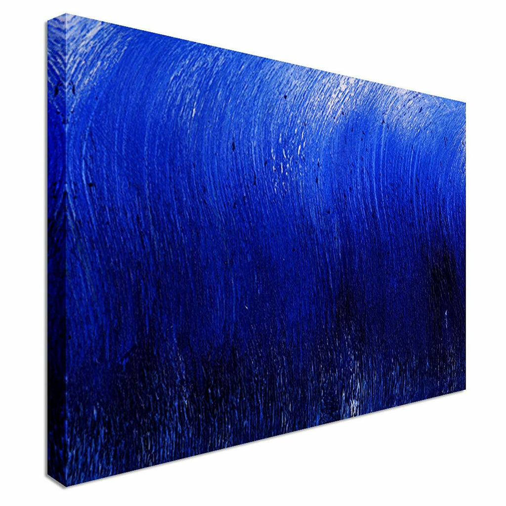 Abstract Blue Waves Canvas Wall Art Picture Print