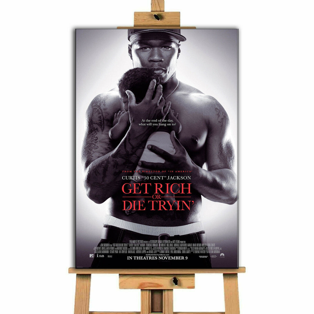 Get Rich Or Die TryingMovie Canvas Print Wall Art