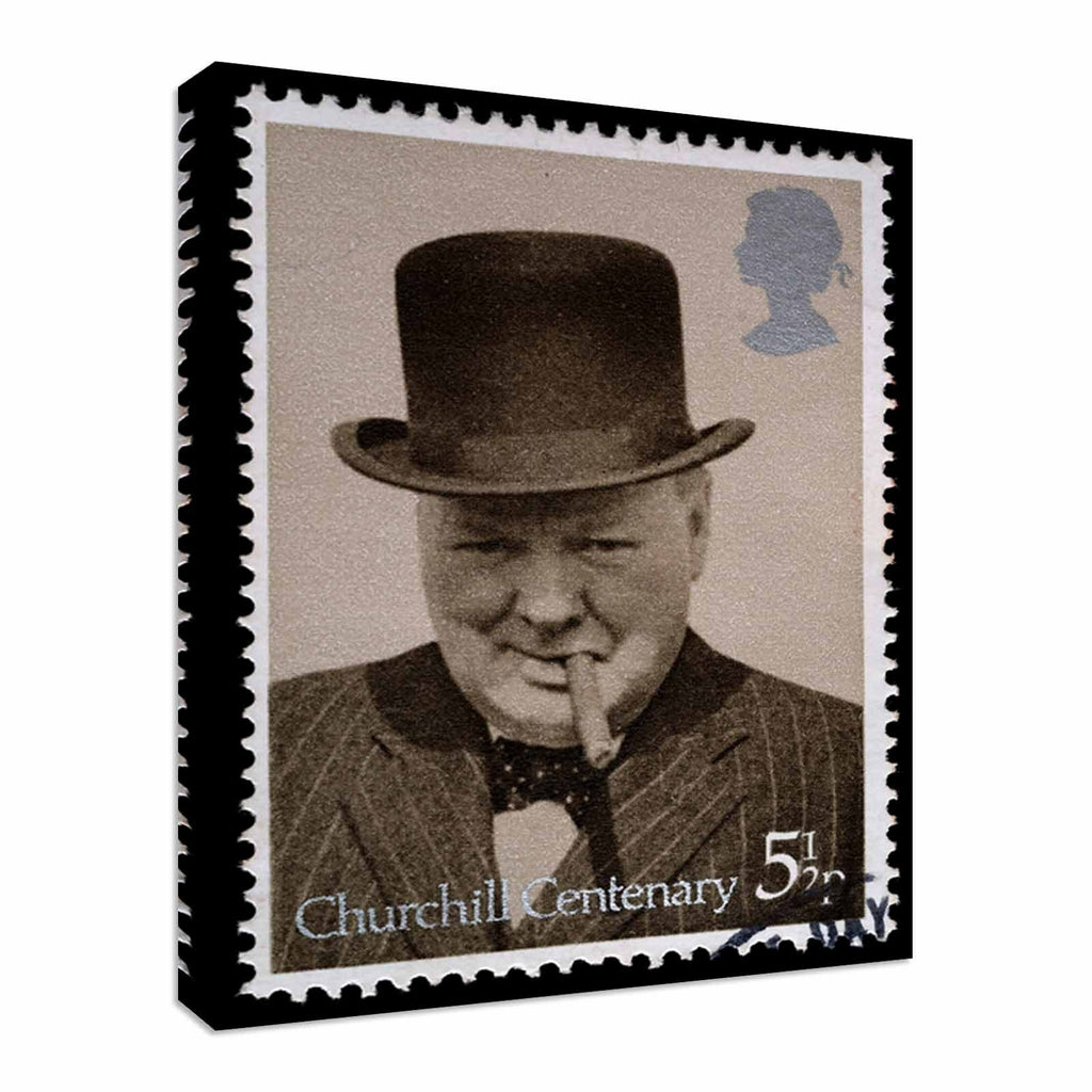 2174 British Stamp Winston Churchill Canvas Wall Art Picture Print