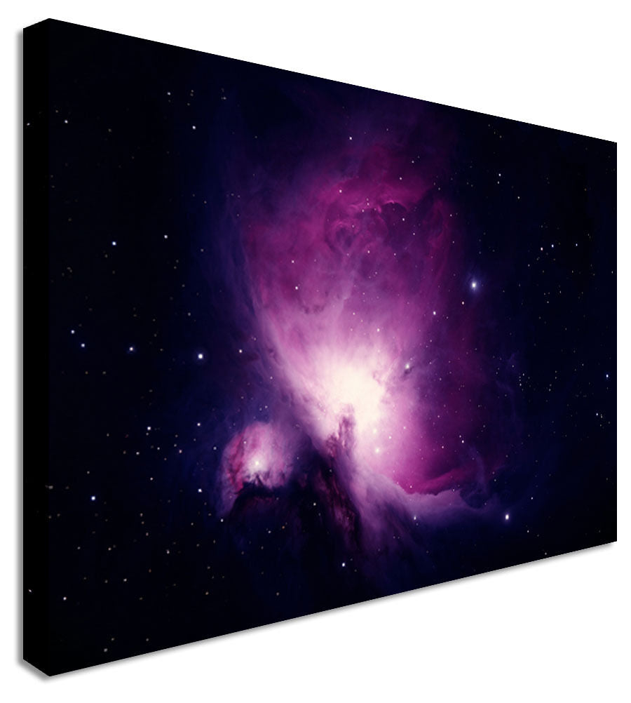 Galaxy Nebula Purple Space  Canvas Wall Art Picture Print