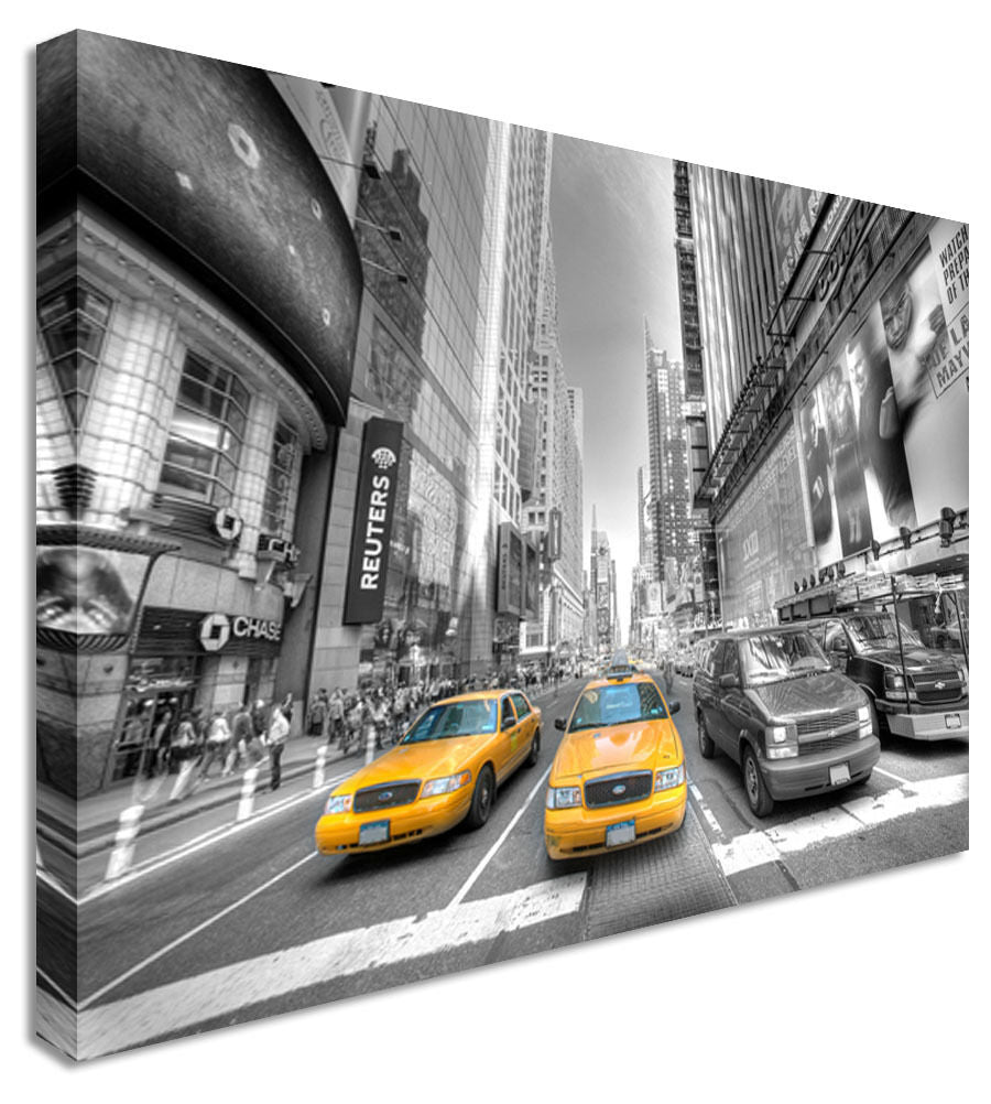 New York Taxi Yellow - Canvas Wall Art Picture Print
