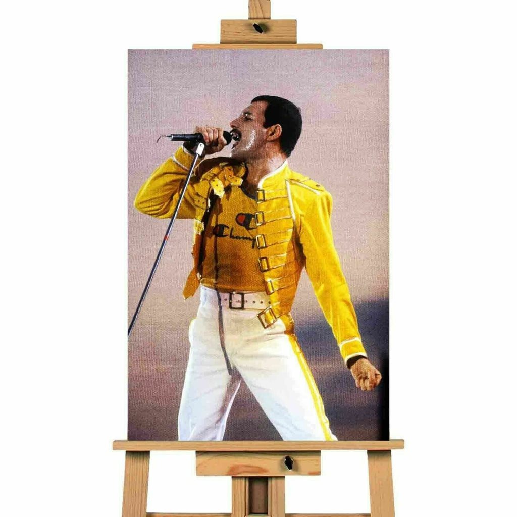 Freddie Mercury Live At Wembley 1986 Canvas Print Wall Art
