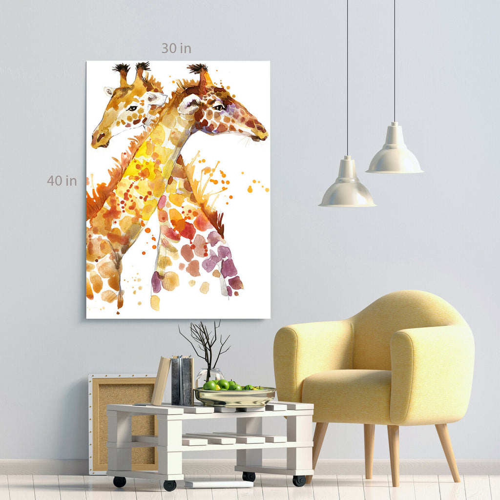 Giraffes Kids Room Canvas Wall Art Picture Print