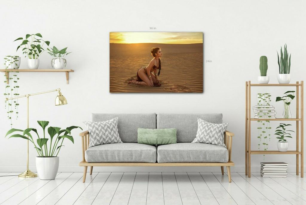 Desert Lady Canvas Wall Art Picture Print