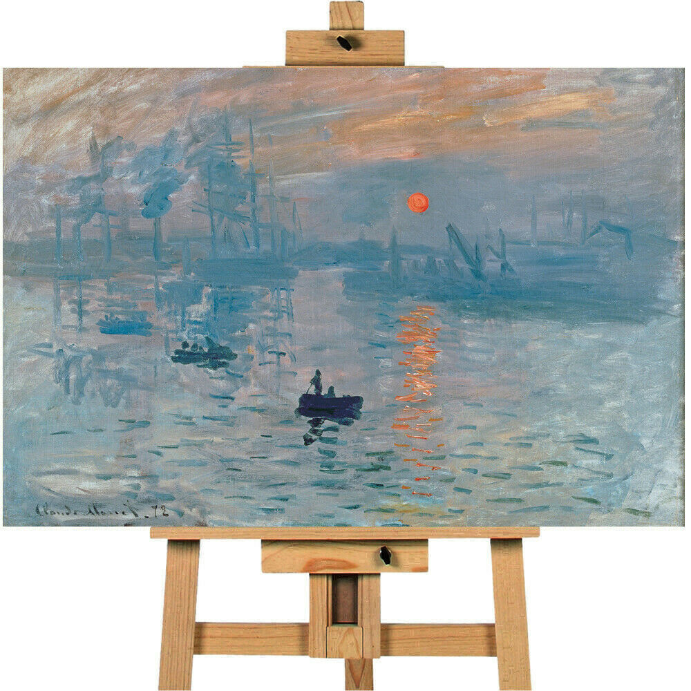Claude Monet Impression Sunrise Canvas Wall Art Picture Print