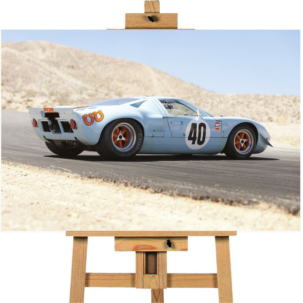 1968 Ford GT40 Gulf Mirage Coupe Canvas Print Wall art