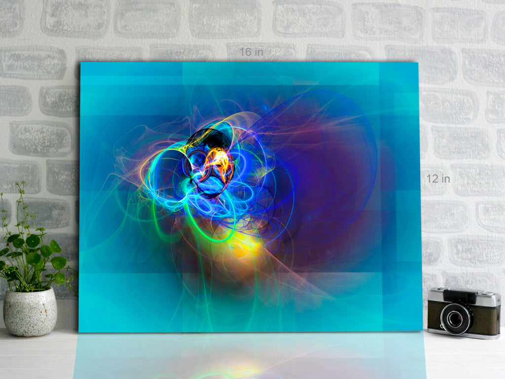 Abstact Neon Colours Canvas Wall Art Picture Print