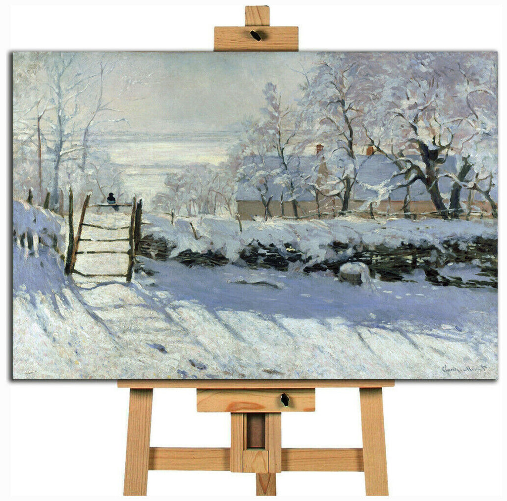 Claude Monet The Magpie Canvas Wall Art Picture Print