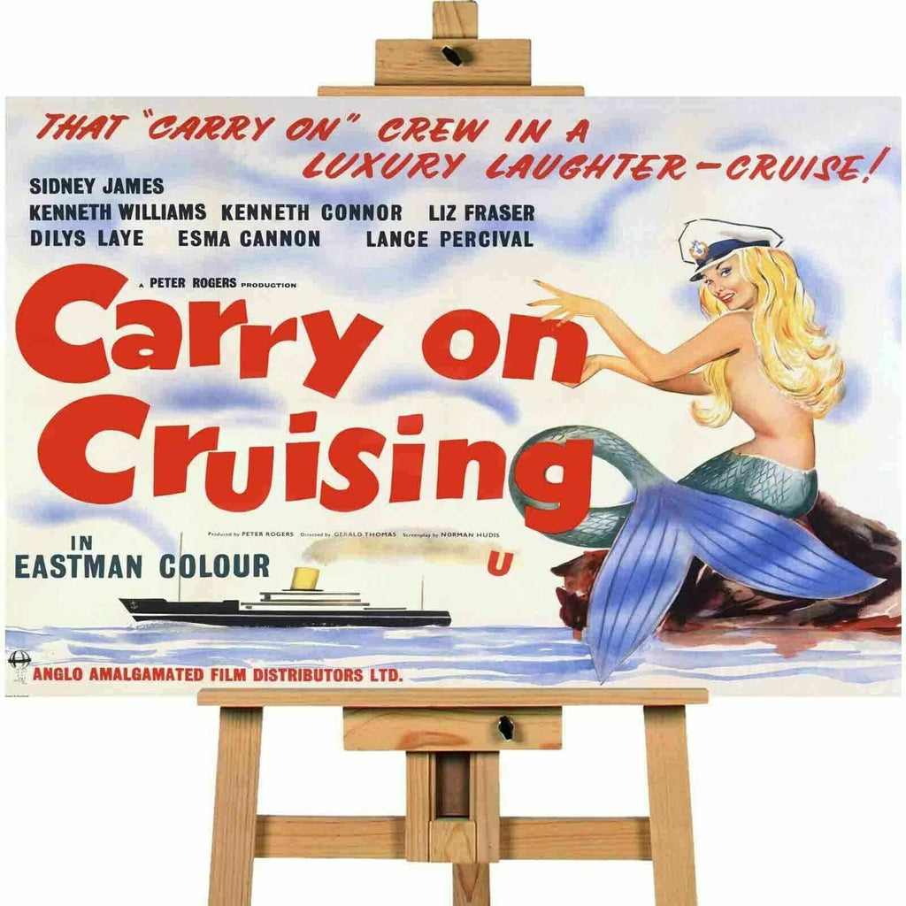 Carry On Cruising Movie Canvas  Print Wall Art