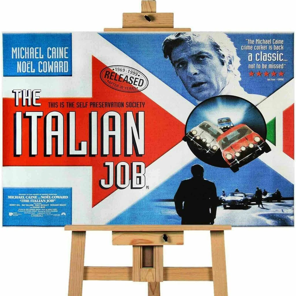 Italian Job Michael Caine  Movie Poster Canvas Print Wall Art