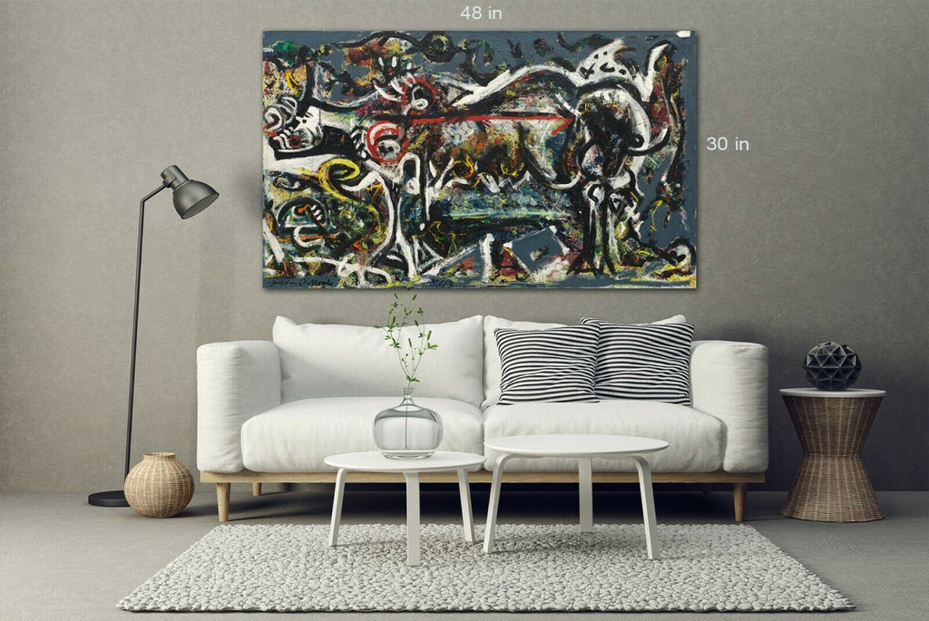 JACKSON POLLOCK MURAL Canvas Wall Art Picture Print