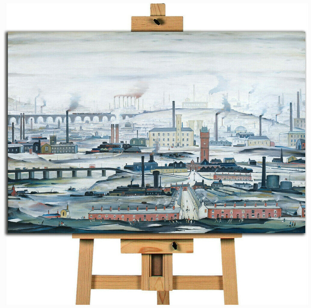 L.S. Lowry  industrial landscape Canvas Wall Art Picture Print