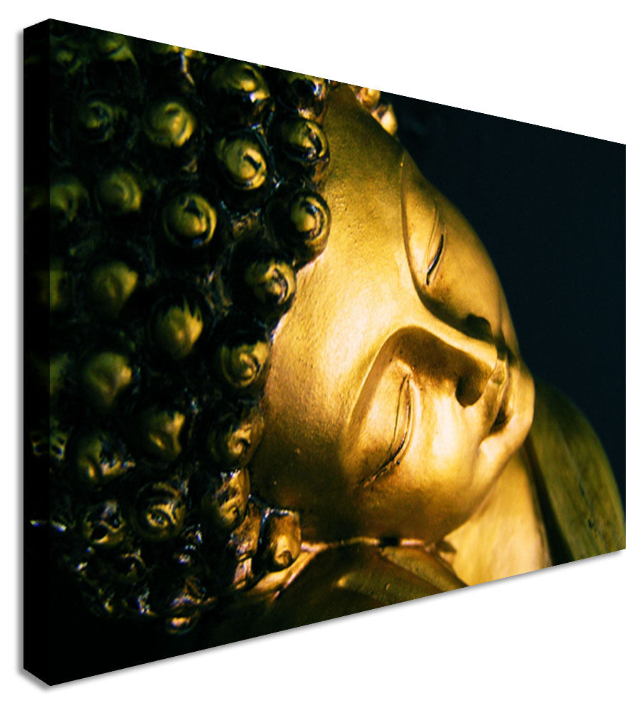 Smiling Buddha Indian Canvas Wall Art Picture Print
