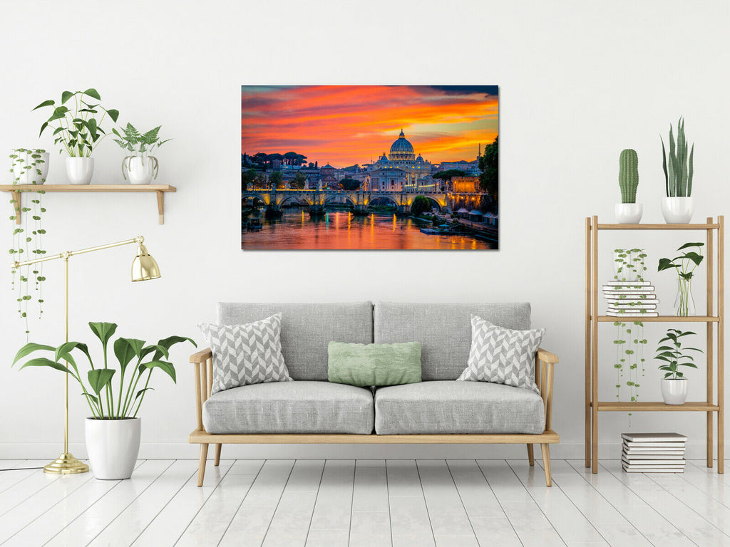 St. Peter's cathedral in Vatican City Canvas Wall Art Picture Print