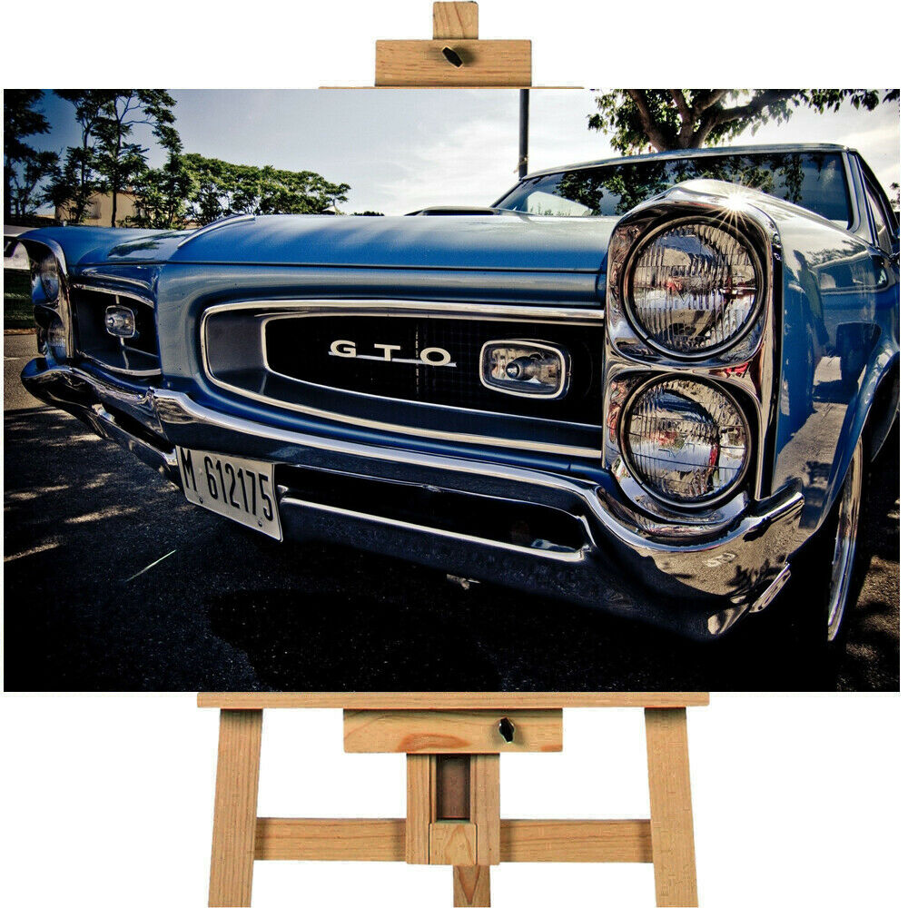 American  Car Pontiac GTO Canvas Print Wall Art
