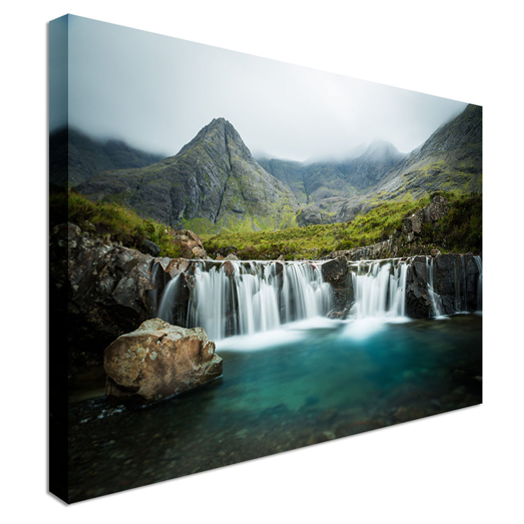 Waterfall in Scotland Canvas Wall Art Picture Print