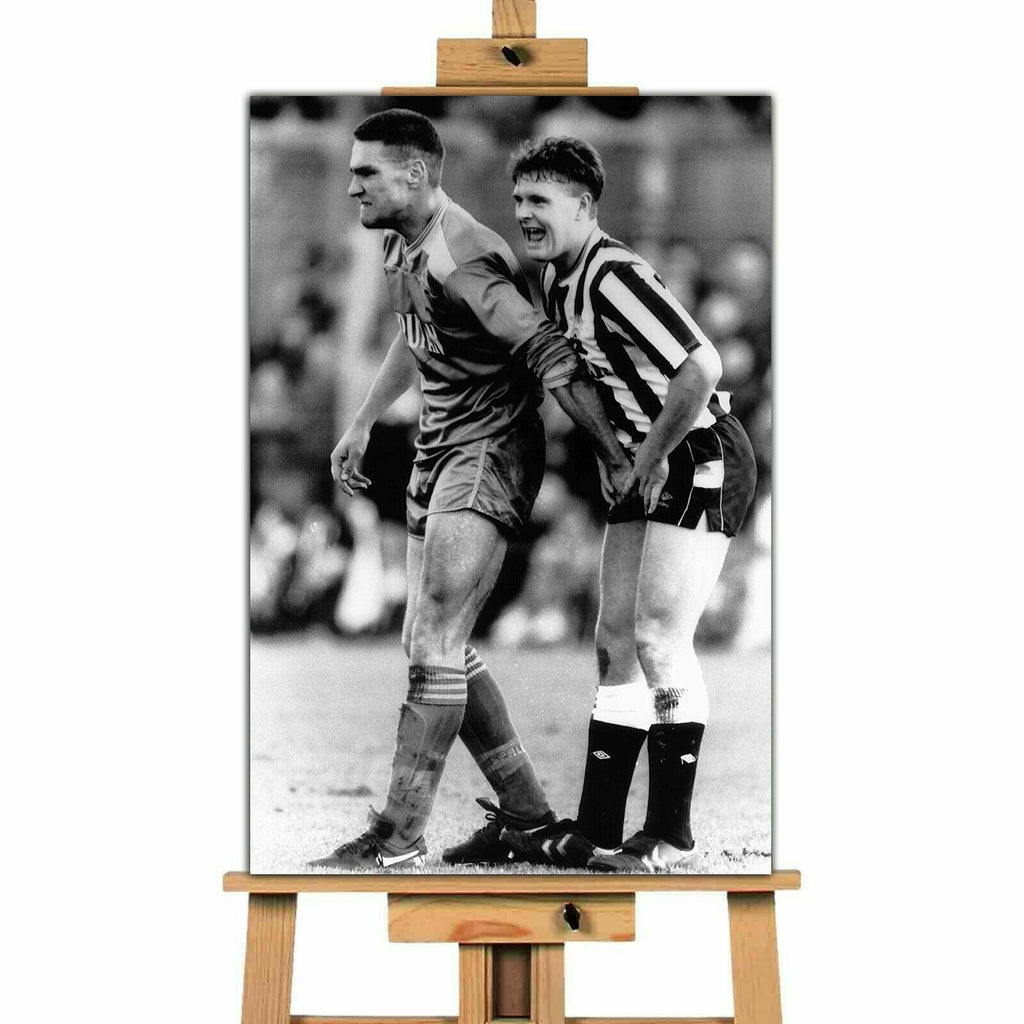Gazza and Vinnie Jones Crunchtime ! Canvas Print Wall Art Picture