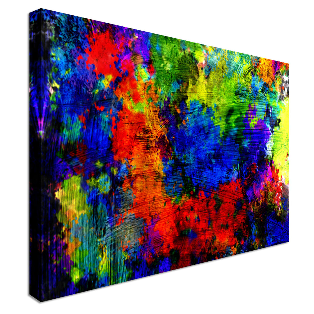 Abstract Brsuh Strokes Canvas Wall Art Picture Print