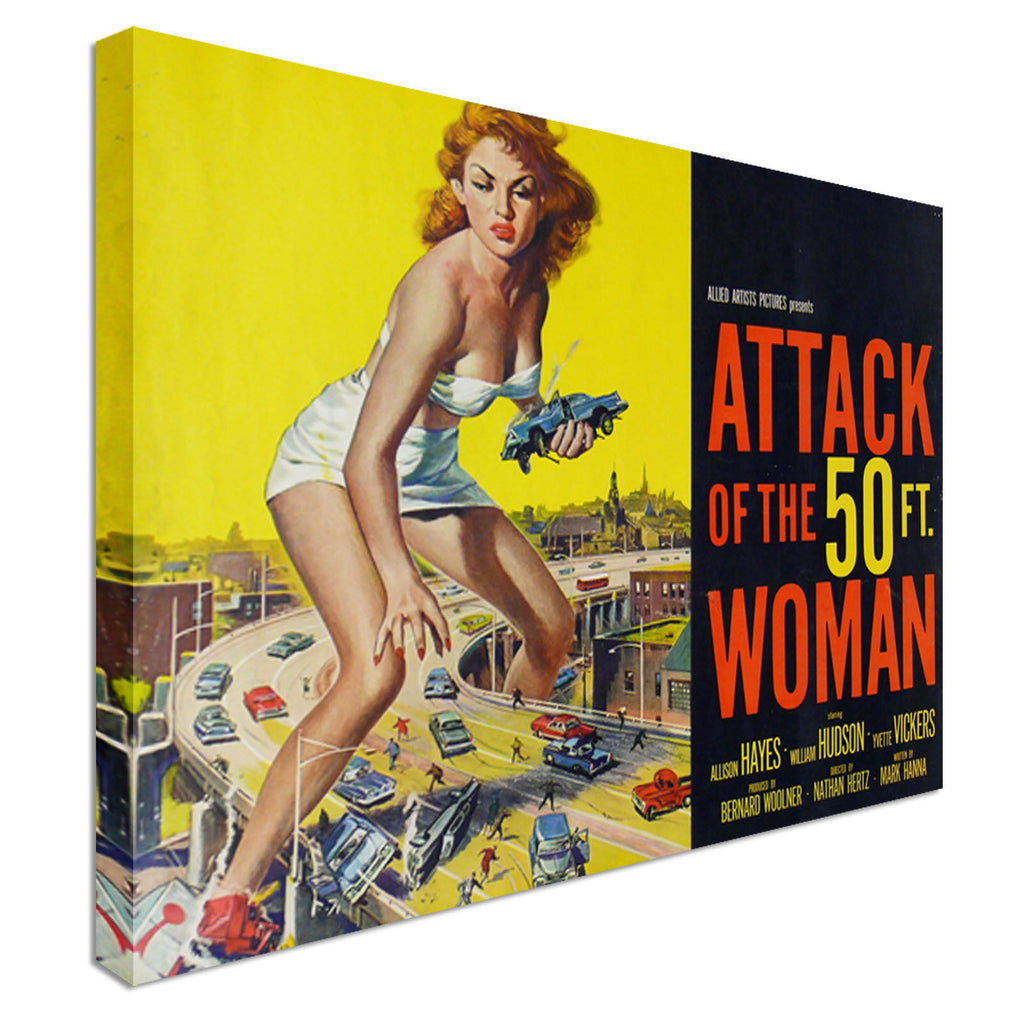 Attack of the 50ft Woman Canvas Wall Art Picture Print