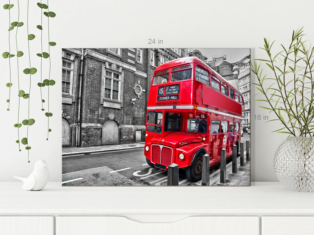 London Red Bus Canvas Wall Art Picture Print