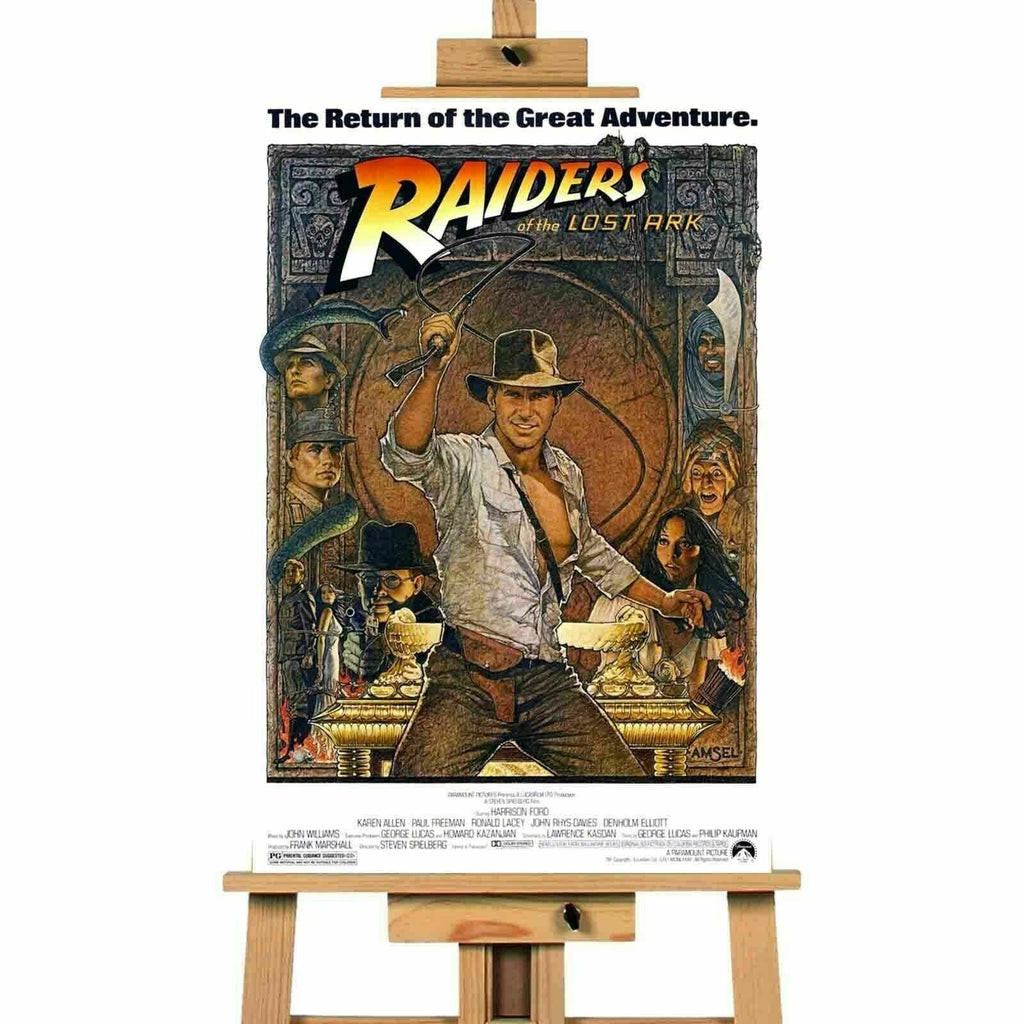 Raiders Of The Lost Ark  Movie  Canvas Print Wall Art Poster