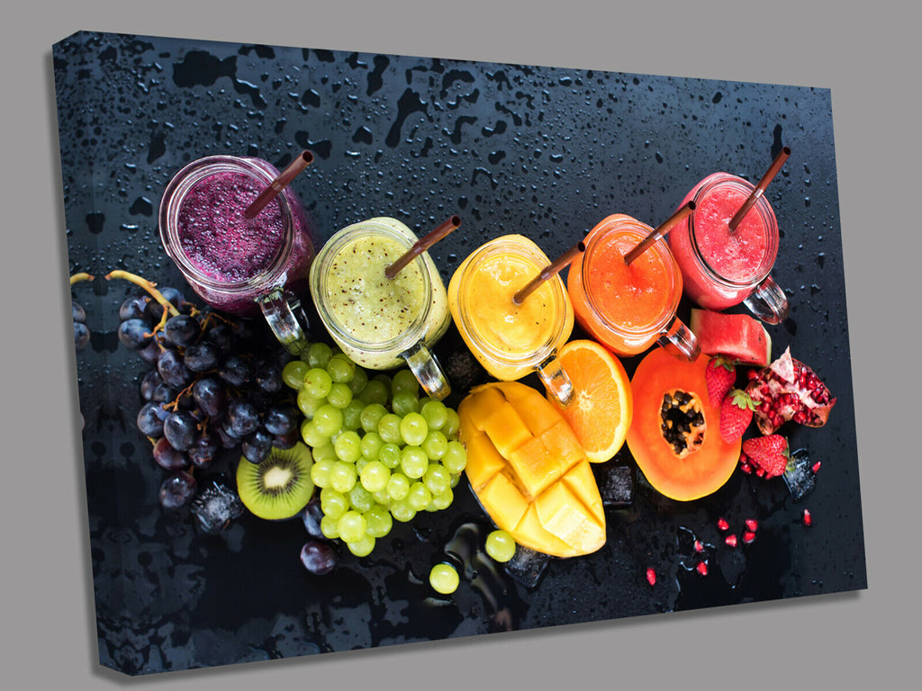 Fruit Cocktails Canvas Wall Art Picture Print