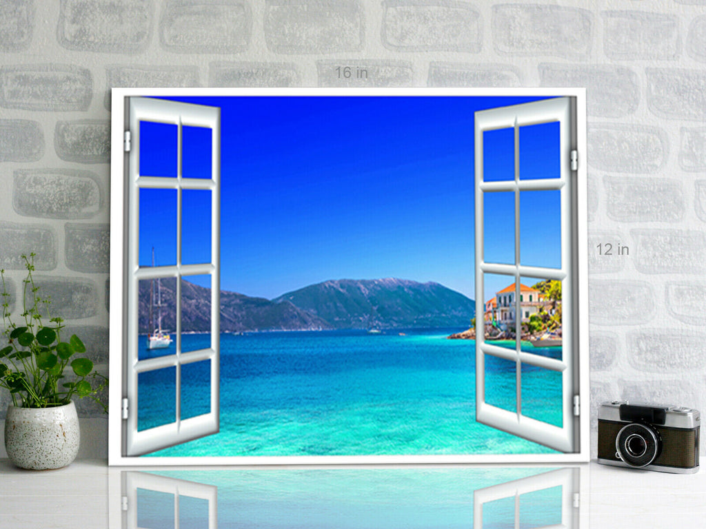 Sea View  Canvas Wall Art Picture Print