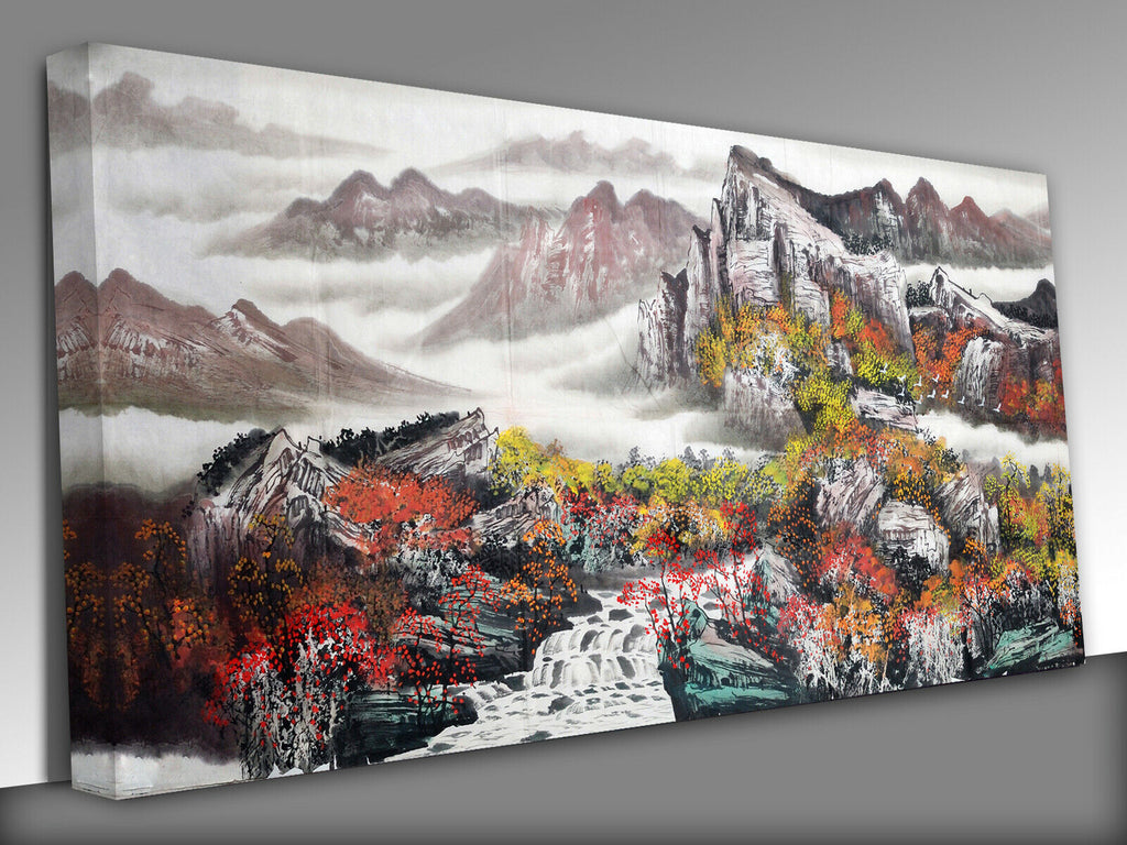 Chinese landscape painting Panoramic Canvas Wall Art Picture Print