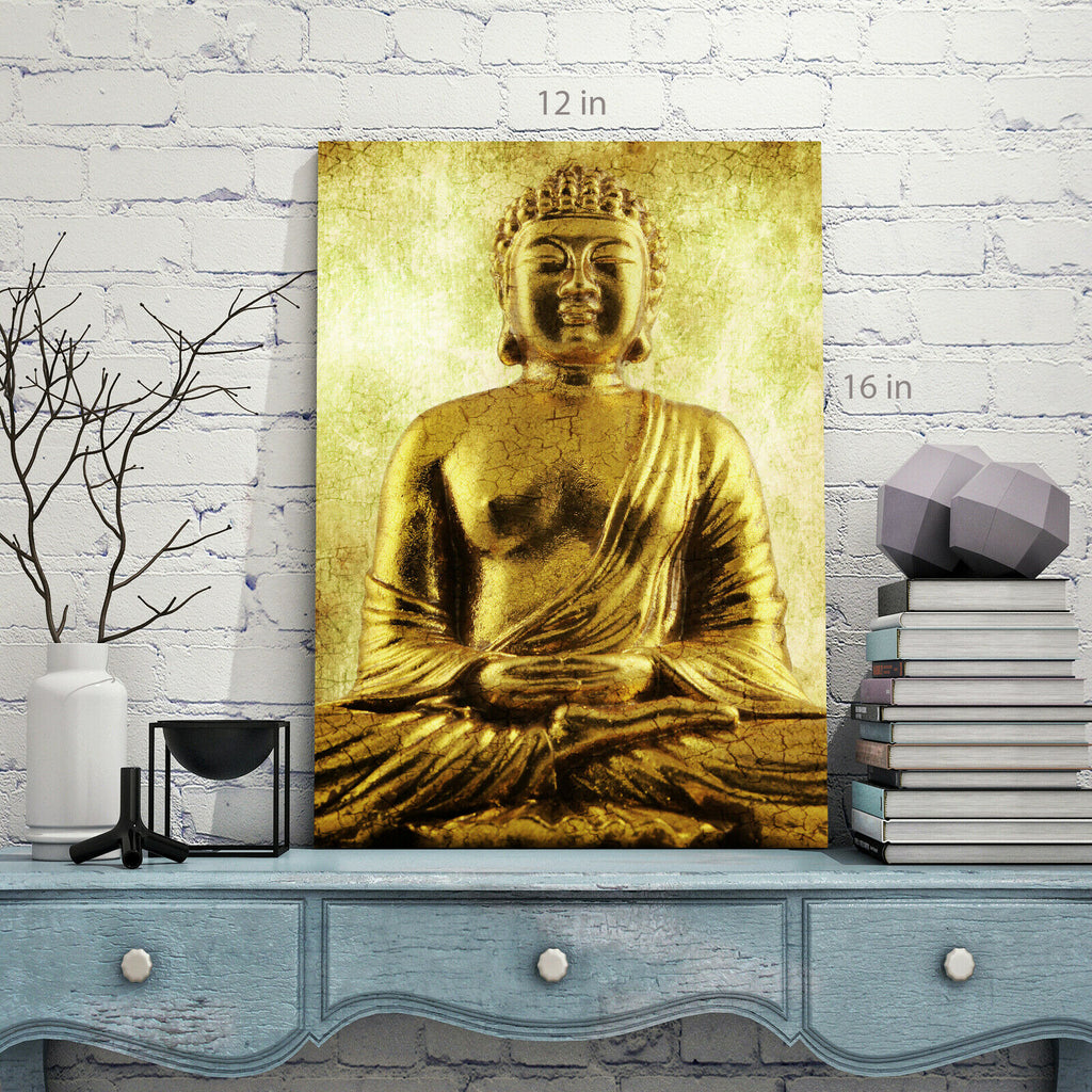 sitting buddha Canvas Wall Art Picture Print